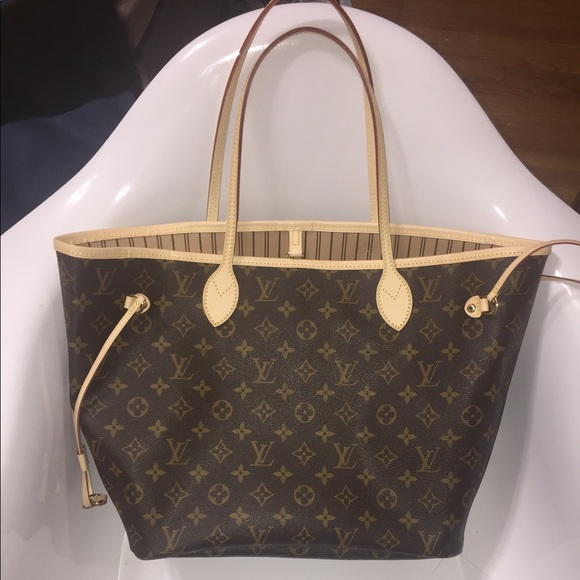 2eafb143ed3 Louis Vuitton Bags | Neverfull Mm With Receipt | Poshmark